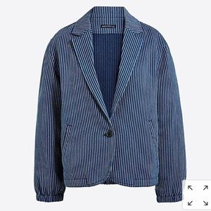 J Crew Mercantile Striped Blazer Jacket